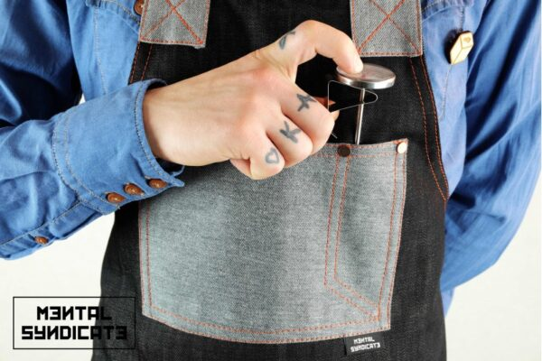 ''AM'' Denim Apron - 3