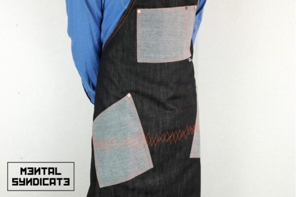 ''AM'' Denim Apron - 1