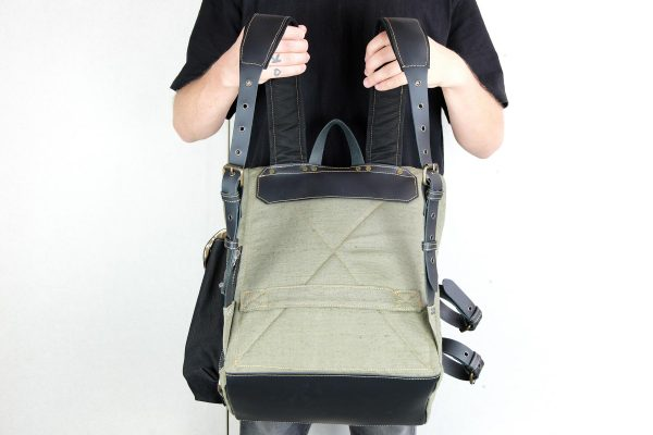 ''Aviator'' Roll Top Backpack - 8