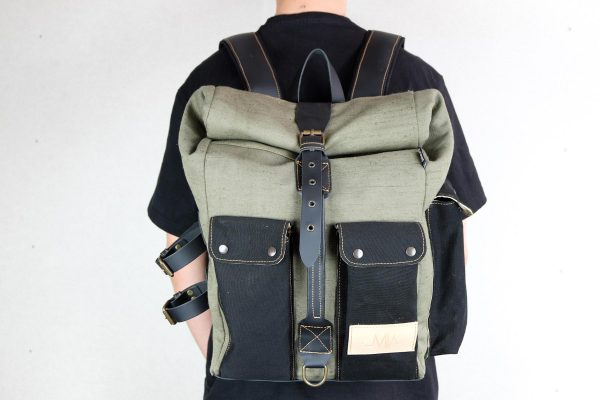 ''Aviator'' Roll Top Backpack - 4
