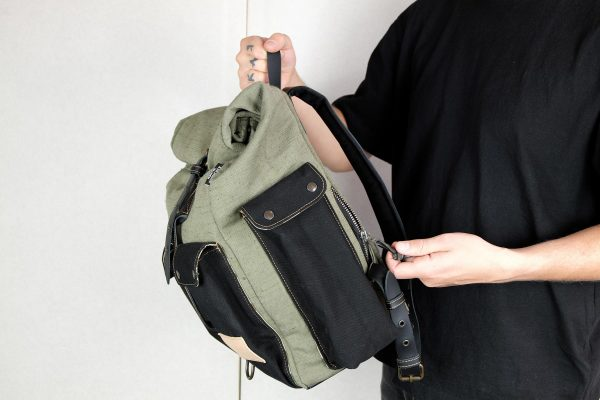 ''Aviator'' Roll Top Backpack - 0