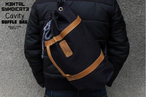 Cavity Raw Denim Duffle Bag Brut - 0