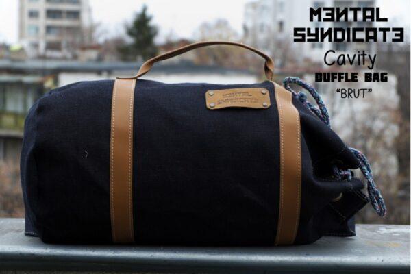 Cavity Raw Denim Duffle Bag Brut - 1
