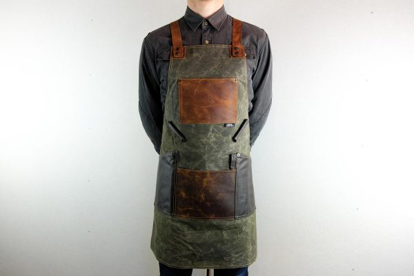 Waxed Canvas and Genuine Leather Chuck Apron - 4