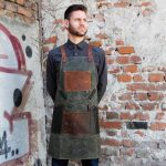 Waxed Canvas and Genuine Leather Chuck Apron - 0