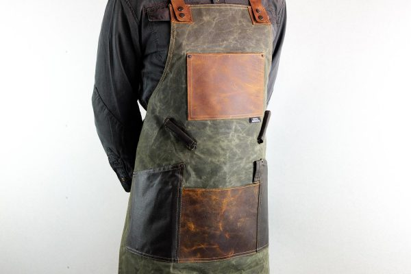 Waxed Canvas and Genuine Leather Chuck Apron - 3