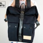 'Aviator'' Roll Top Backpack Black - 3