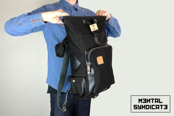 Loot Canvas Backpack Black - 4