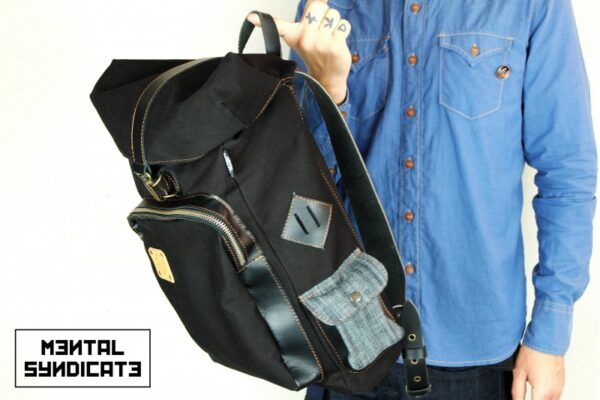 Loot Canvas Backpack Black - 1