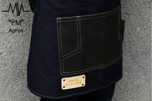 Half Apron PM Raw Denim and Waxed Canvas Apron - 1