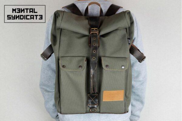 ''Aviator'' Roll Top Backpack - 8