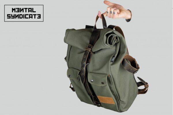 ''Aviator'' Roll Top Backpack - 3