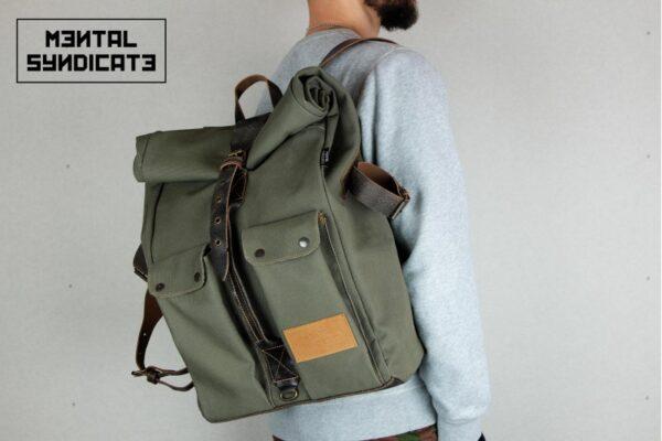 ''Aviator'' Roll Top Backpack - 4