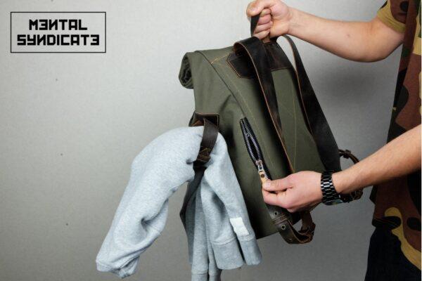 ''Aviator'' Roll Top Backpack - 5