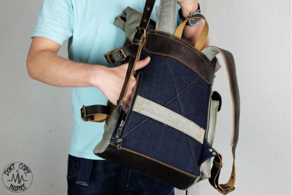 Roll Top Backpack ''Under The Bridge'' 5 YRS - 8