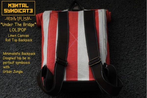 Roll Top Backpack Under The Bridge Lolipop - 1