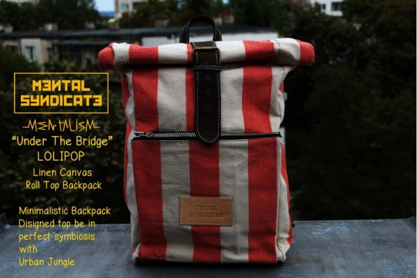 Roll Top Backpack Under The Bridge Lolipop - 3