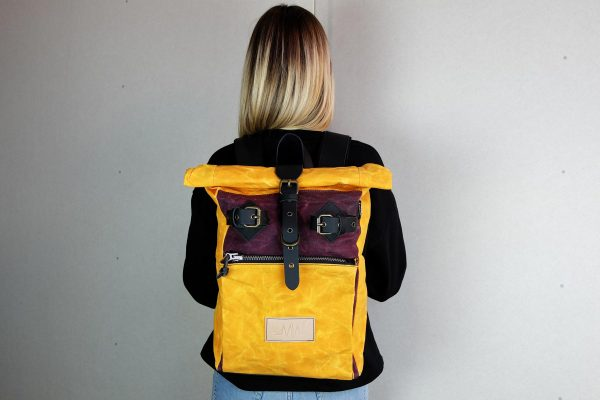 """Under The Bridge"" Roll Top Backpack WY - 5"