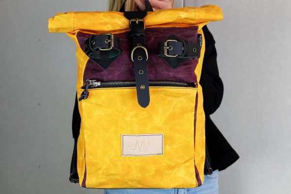 """Under The Bridge"" Roll Top Backpack WY - 4"