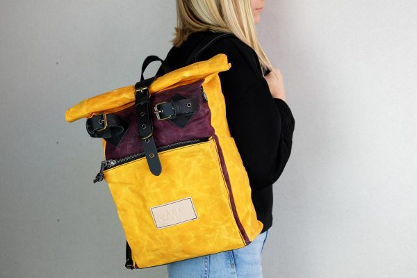"""Under The Bridge"" Roll Top Backpack WY - 2"