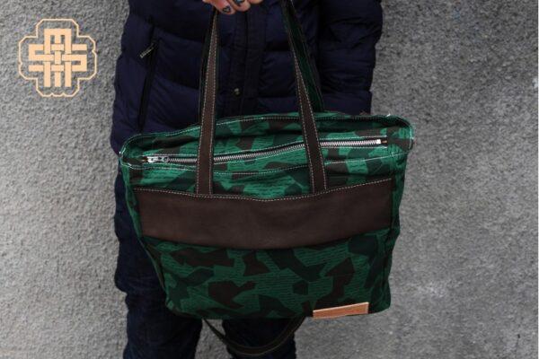 Canvas Messenger Bag ''Trooper'' ARMY - 1