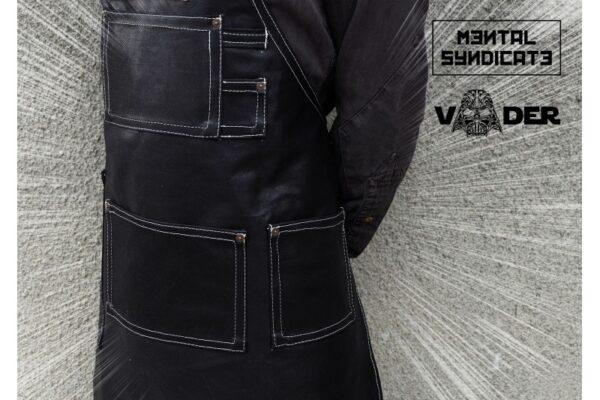 VADER Coated Black Denim Apron - 1