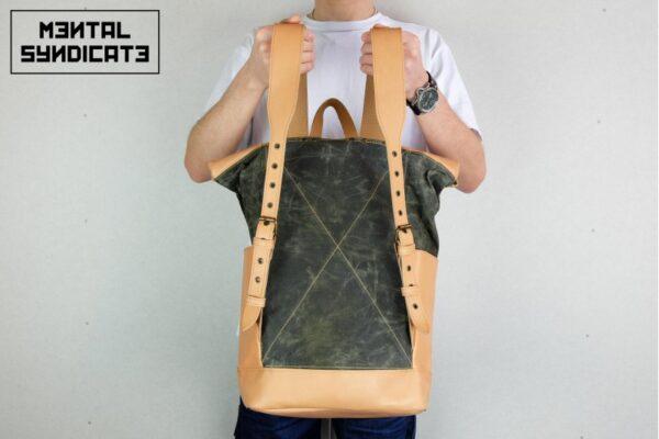 Warped Roll Top Backpack WAX - 5