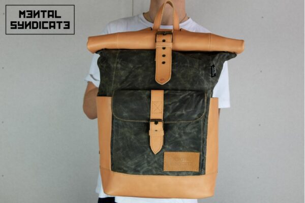 Warped Roll Top Backpack WAX - 1