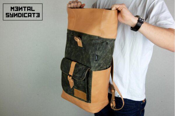 Warped Roll Top Backpack WAX - 2