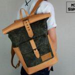 Warped Roll Top Backpack WAX - 3