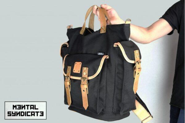 ''rVr'' Backpack Black' - 2
