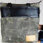 LEATHER TOTE BAG MILITARY GREEN - 3