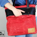 LEATHER TOTE BAG MARBLE RED - 3