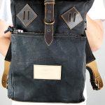 Roll Top Backpack BLCK WAX - 4