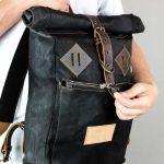 Roll Top Backpack BLCK WAX - 1