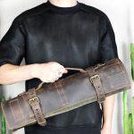 BBQ Leather Roll BLCK - 4