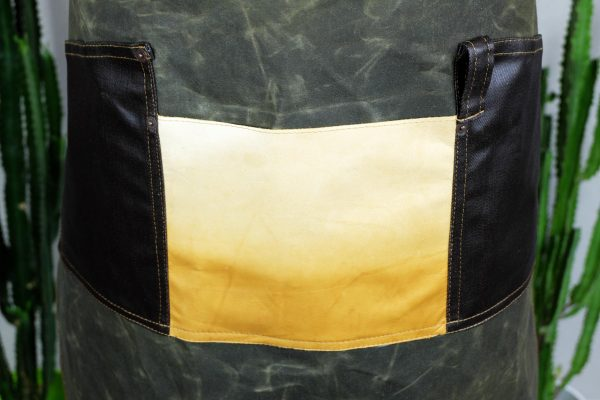 Waxed Canvas and Genuine Leather Chuck Apron ECR - 7