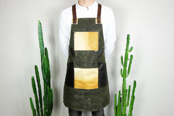 Waxed Canvas and Genuine Leather Chuck Apron ECR - 4