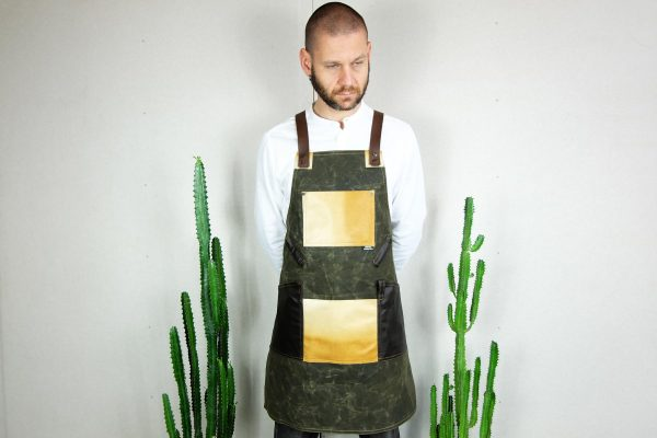 Waxed Canvas and Genuine Leather Chuck Apron ECR - 0