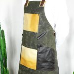 Waxed Canvas and Genuine Leather Chuck Apron ECR - 5