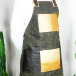Waxed Canvas and Genuine Leather Chuck Apron ECR - 3