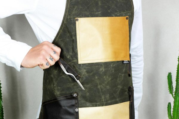 Waxed Canvas and Genuine Leather Chuck Apron ECR - 1