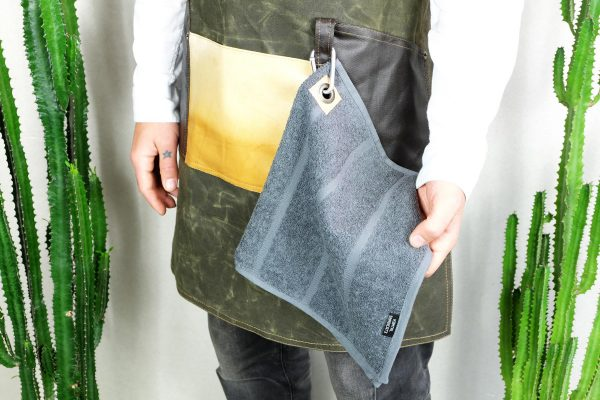 Waxed Canvas and Genuine Leather Chuck Apron ECR - 6