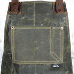 Waxed Canvas & Genuine Leather ''Chuck'' Apron RG - 3