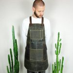 Waxed Canvas & Genuine Leather ''Chuck'' Apron RG - 0