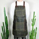 Waxed Canvas & Genuine Leather ''Chuck'' Apron RG - 6