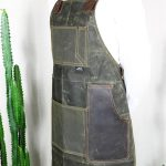 Waxed Canvas & Genuine Leather ''Chuck'' Apron RG - 7