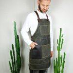 Waxed Canvas & Genuine Leather ''Chuck'' Apron RG - 2