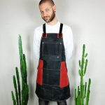 Waxed Canvas & Genuine Leather ''Chuck'' Apron RR - 0