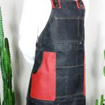 Waxed Canvas & Genuine Leather ''Chuck'' Apron RR - 3